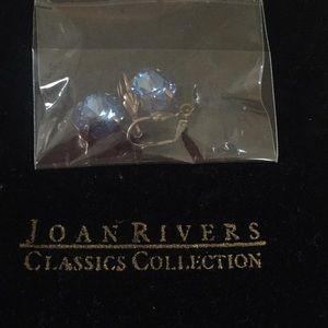 Joan Rivers crystal style, antiqued earrings